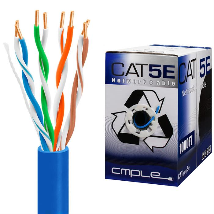 UTP CMR Cat5e Riser Blue Cable 1000ft Box