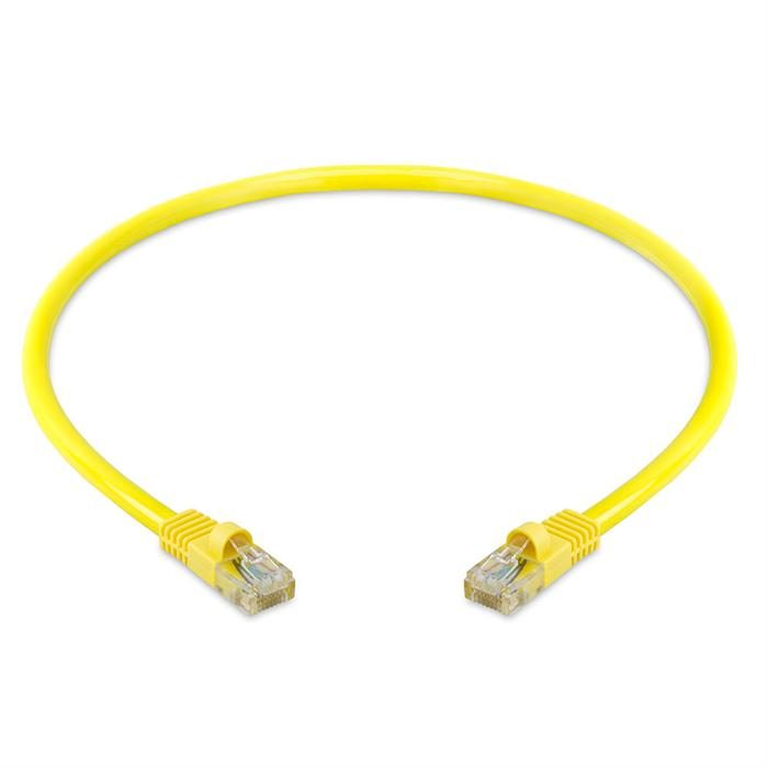 High Speed Lan Cat5e Patch Cable 1.5FT Yellow