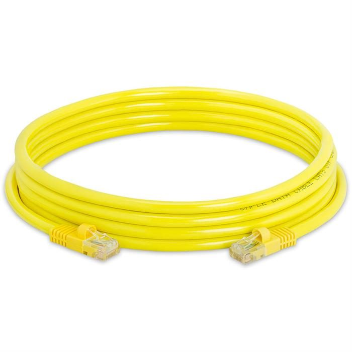 High Speed Lan Cat5e Patch Cable 10FT Yellow