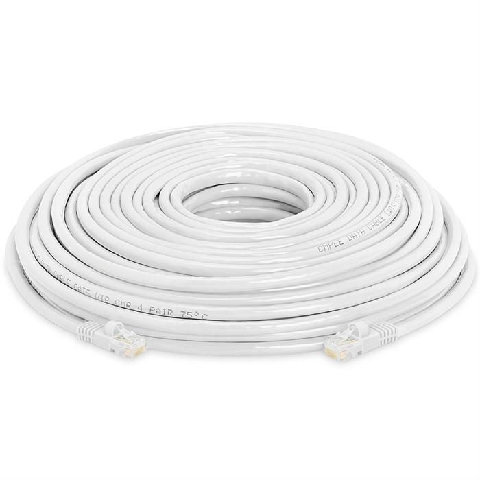 High Speed Lan Cat5e Patch Cable 100FT, White