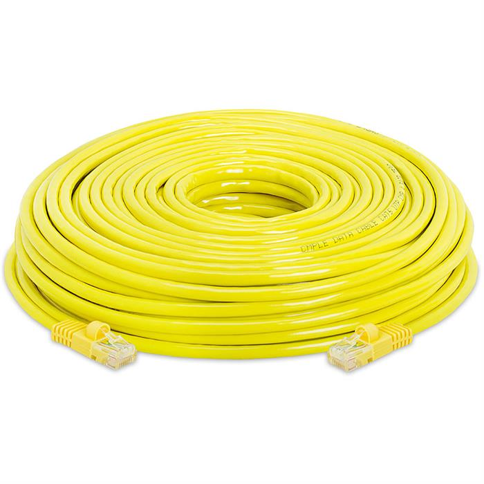 High Speed Lan Cat5e Patch Cable 150FT Yellow