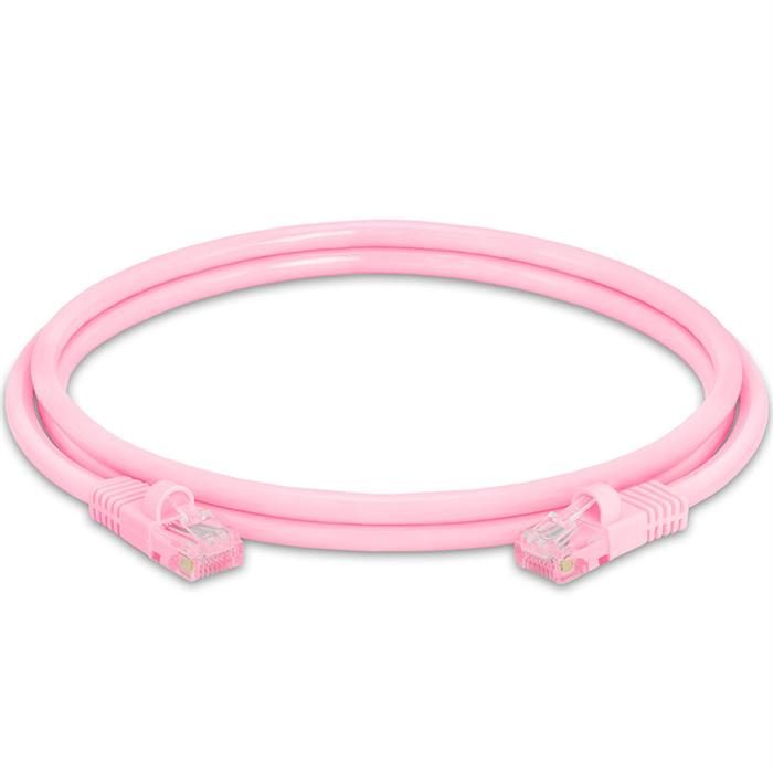 High Speed Lan Cat5e Patch Cable 5FT Pink
