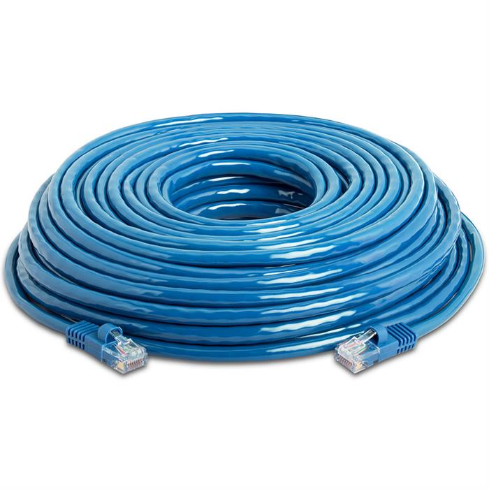 High Speed Lan Cat5e Patch Cable 50FT Blue