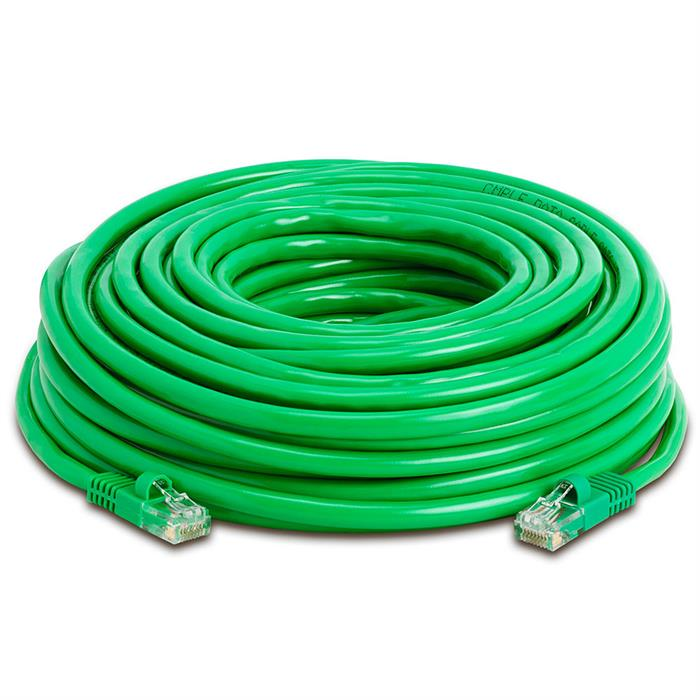 High Speed Lan Cat5e Patch Cable 50FT Green