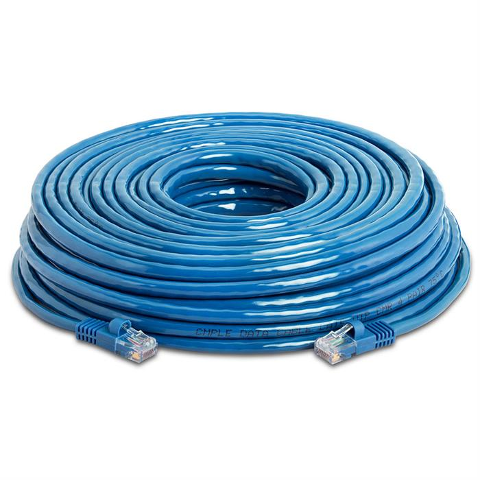 High Speed Lan Cat5e Patch Cable 75FT Blue
