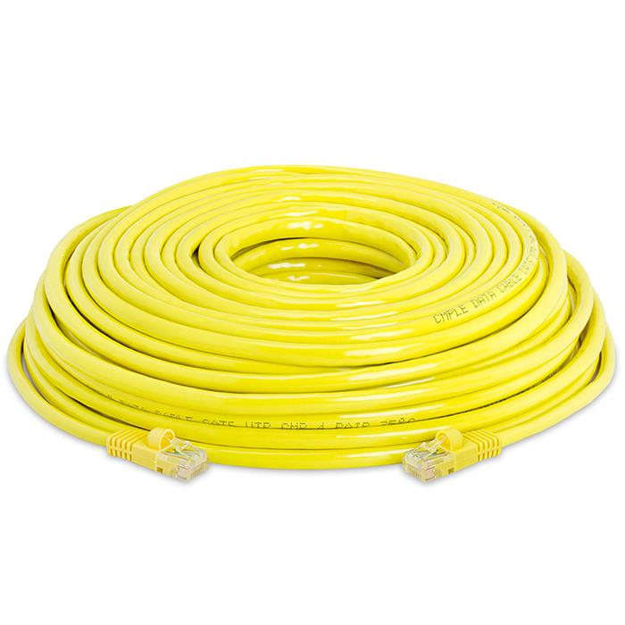 High Speed Lan Cat5e Patch Cable 75FT Yellow