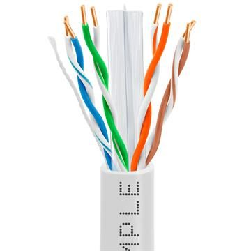 CAT6 CCA Ethernet Cable 23AWG Bulk Network Wire, 1000 Feet  White