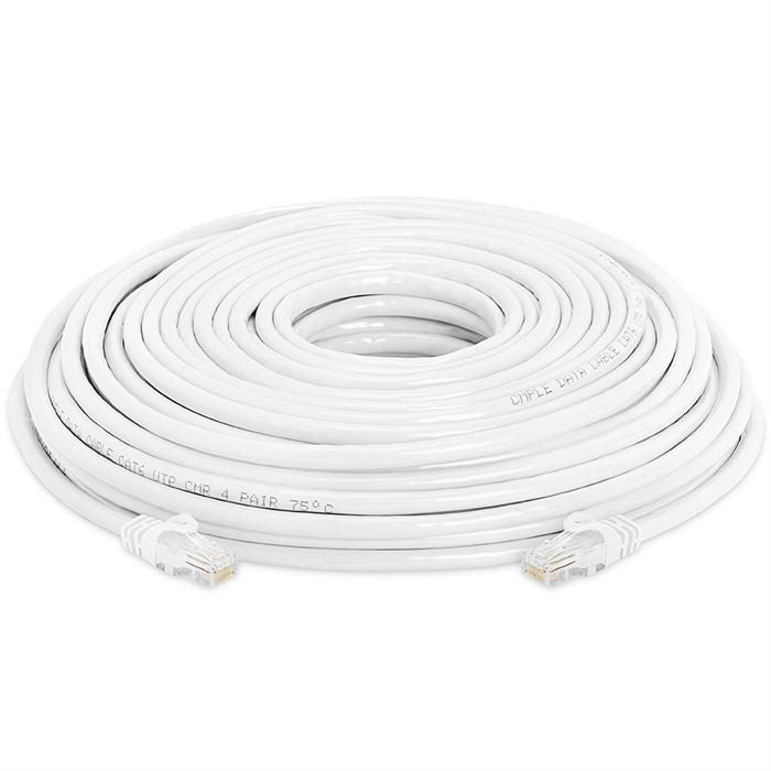 High Speed Lan Cat6 Patch Cable 100FT White