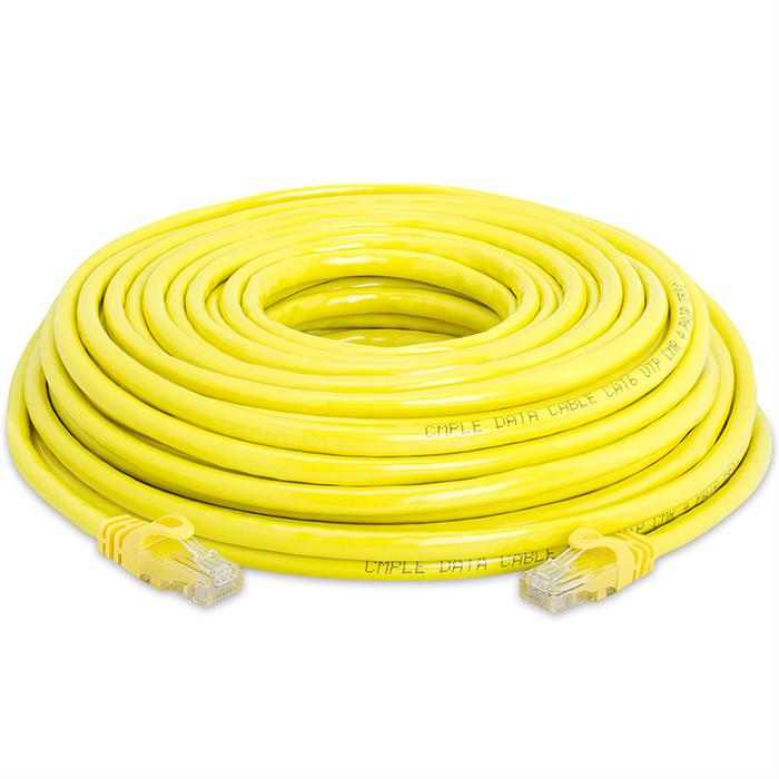 High Speed Lan Cat6 Patch Cable 50FT Yellow