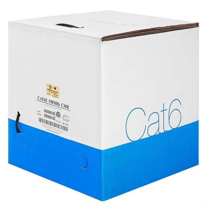 Bare Copper UTP Cat6 Black Cable 1000ft Box