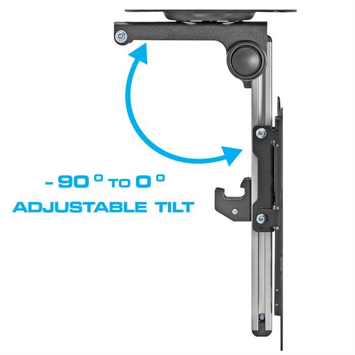 "Folding LCD Ceiling/Cabinet Mount For 17""- 37"" - Adjustable Tilt"