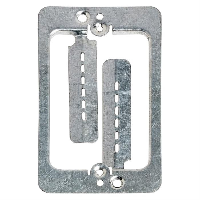 Cmple - Drywall Bracket Single-Gang Standard Wall Plate - Includes Drywall Screws – Metal