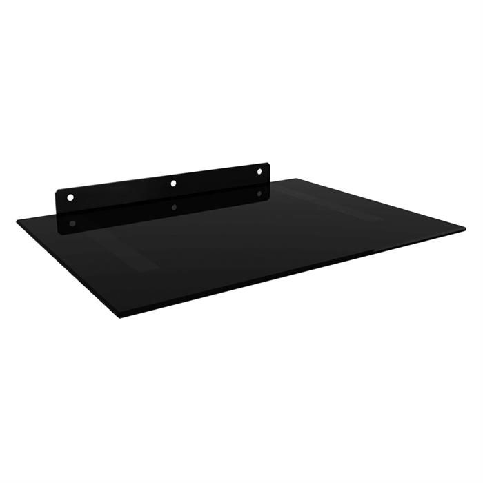 Floating Wall Mount Tempered Glass Shelf