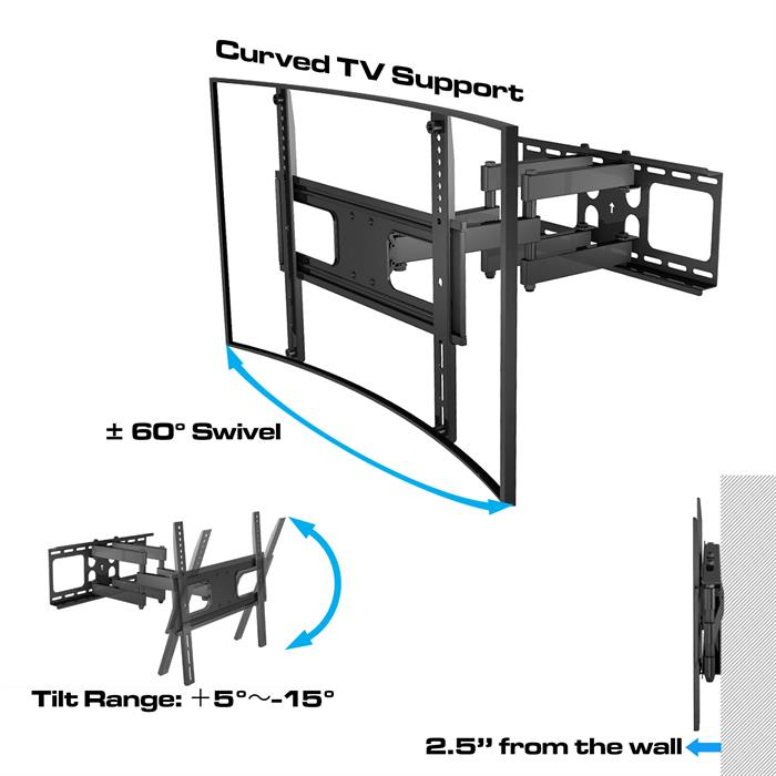 TV Wall Mount for Curved TV