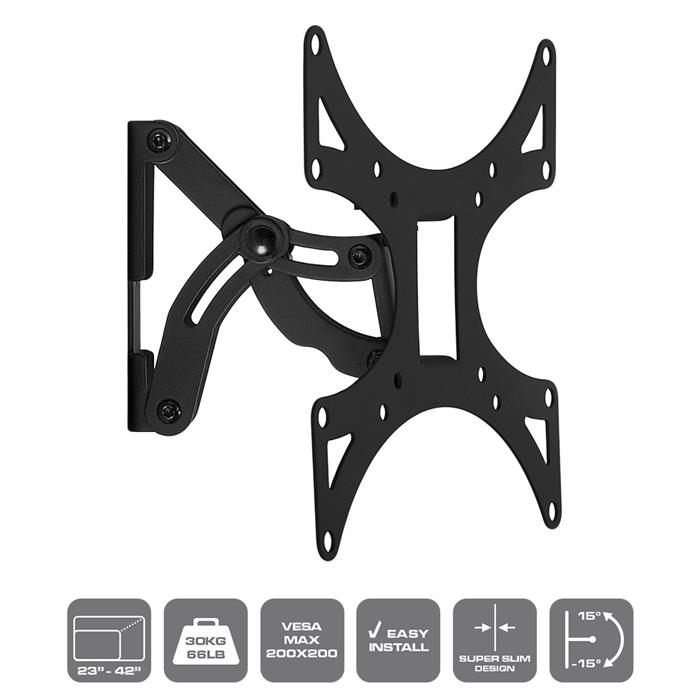 Features - Tilting & Swivel TV Wall Mount