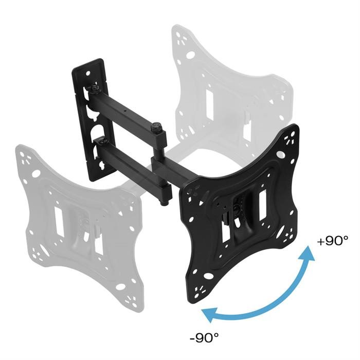 "Adjustable Full-Motion TV Wall Mount For 23-42"" TVs"