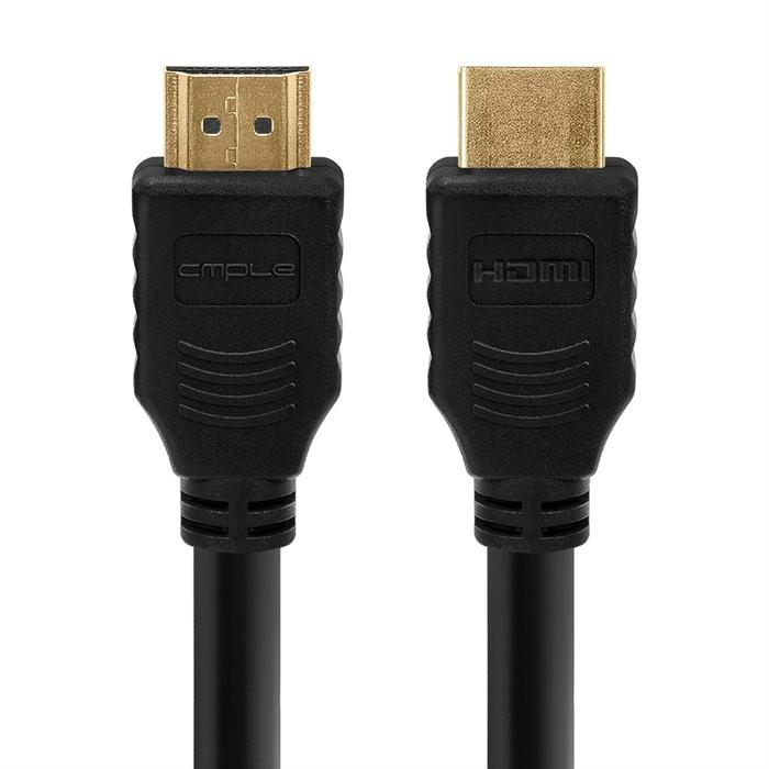 Cmple - HDMI Cable 10FT High Speed HDTV Ultra-HD (UHD) 3D, 4K @60Hz, 18Gbps 28AWG HDMI Cord Audio Return 10 Feet Black