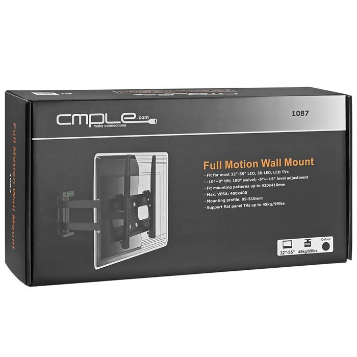 "Package - Heavy-Duty Full Motion Wall Mount For 32""-55"" TVs"