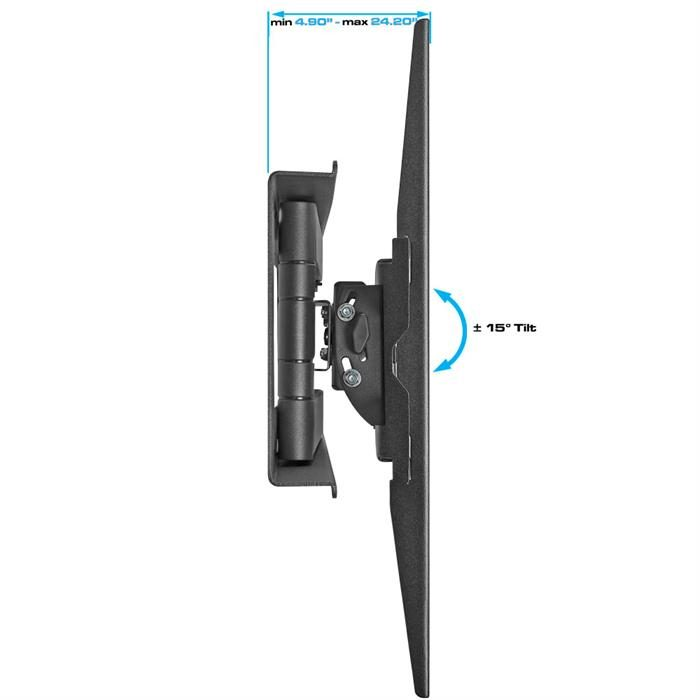 "Side view - Full Motion Wall Mount For 37""-70"" LCD/LED TV's"