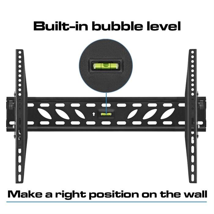 "Built-in bubble level - TV Wall Mount For 37""-70"" TV's"