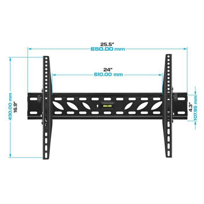 "Dimensions - Tilt TV Wall Mount For 37""-70"" TV's"