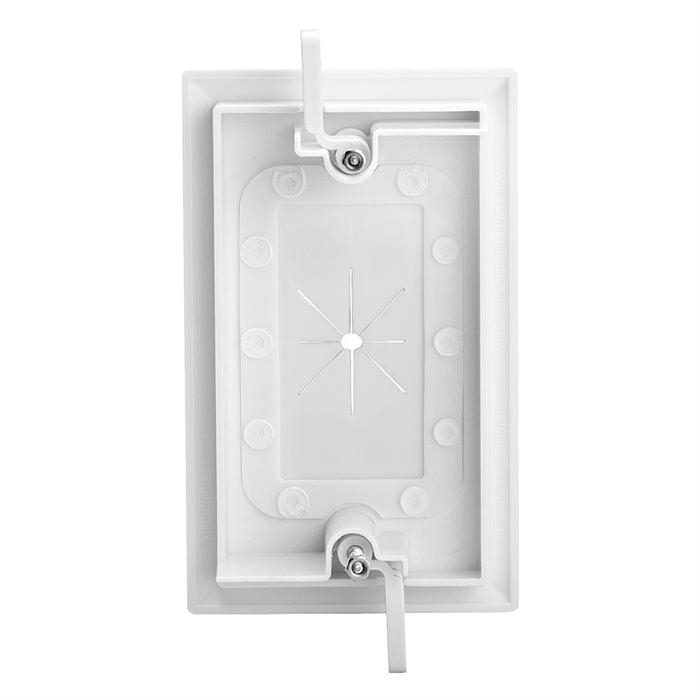 Cmple - One-Gang Wall Plate, 1 Gang Low-Voltage Cable Plate with Flexible Opening Pass-Through Insert Wall Plate Holds up to 6 cables - White