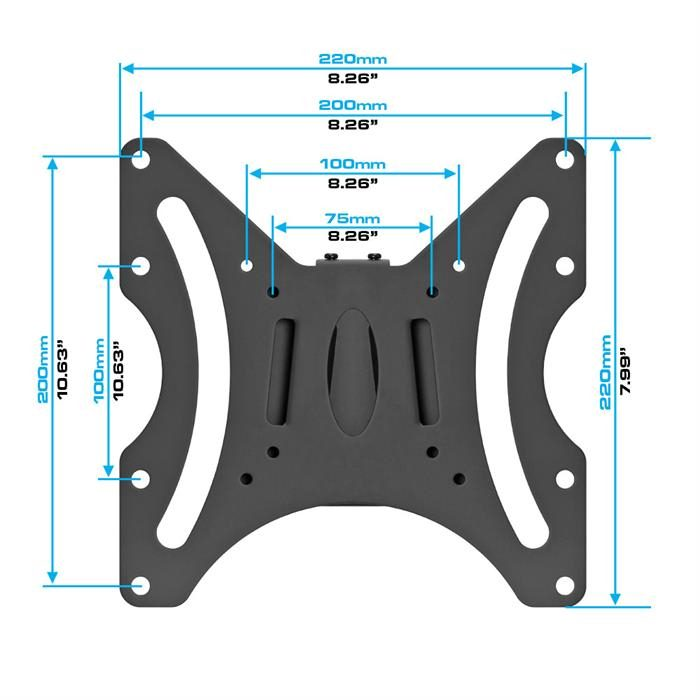 "Dimensions - Slim & Flat LCD / TV Wall Mount For 23""-42"" TV's"