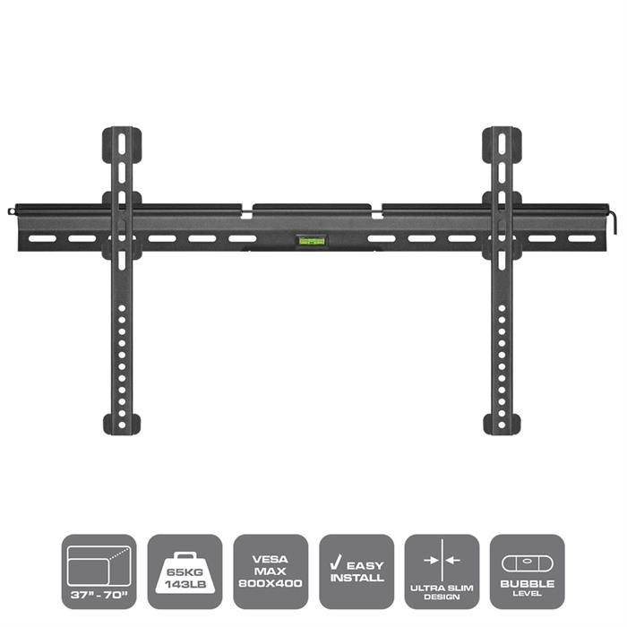 "Easy to install,  In-built bubble level - TV Wall Mount For 37""-70"" TV"