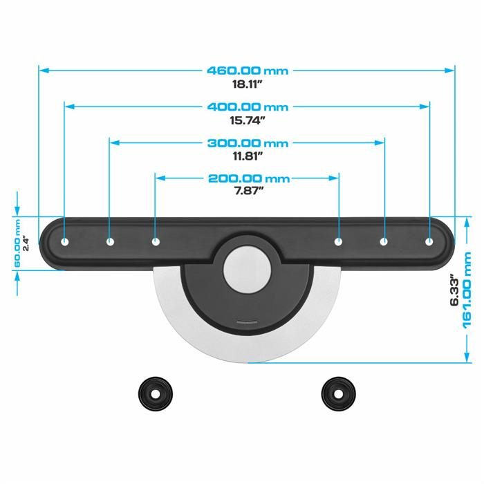 "Dimensions - Ultra Slim TV Wall Mount For 32""-60"" TV's"