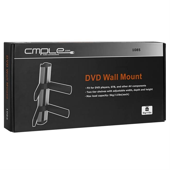Package - Universal Adjustable Two-Shelf DVD/STB Wall Mount