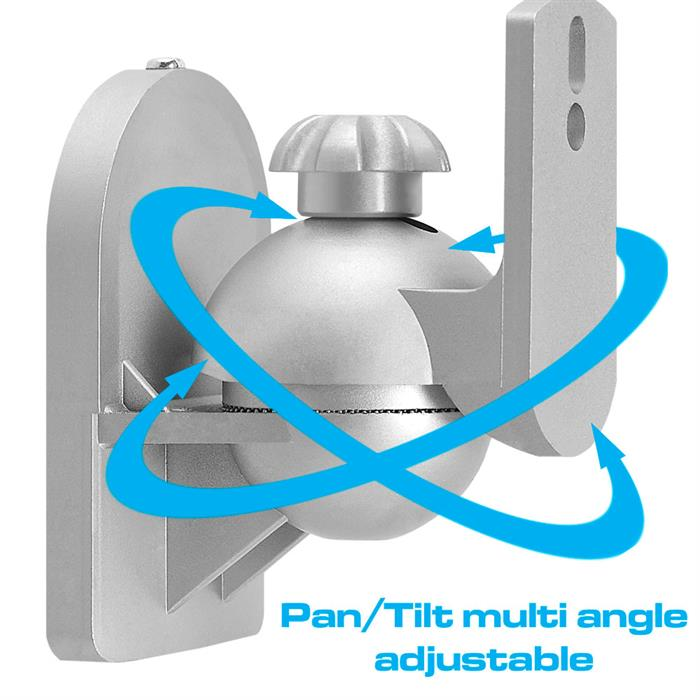 Pan/Tilt multi angle adjustable speaker wall mount