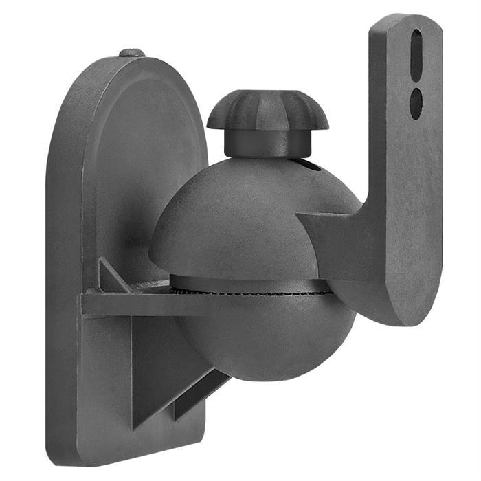 Speaker Wall Mount For Satellite Speakers - Black Pair
