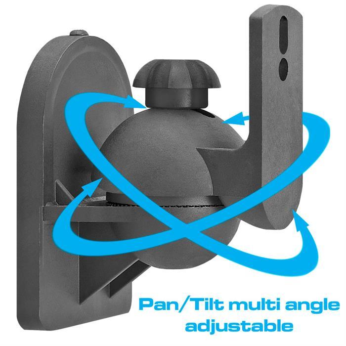 Pan/Tilt multi angle adjustable speaker wall mount