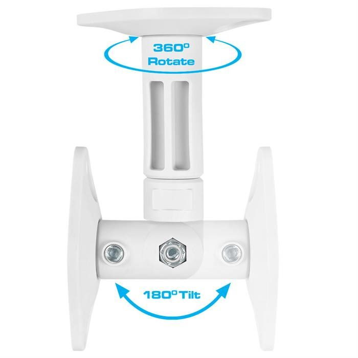 360 Degree Rotate and Tilting up to 180° Speaker Wall/Ceiling Mount