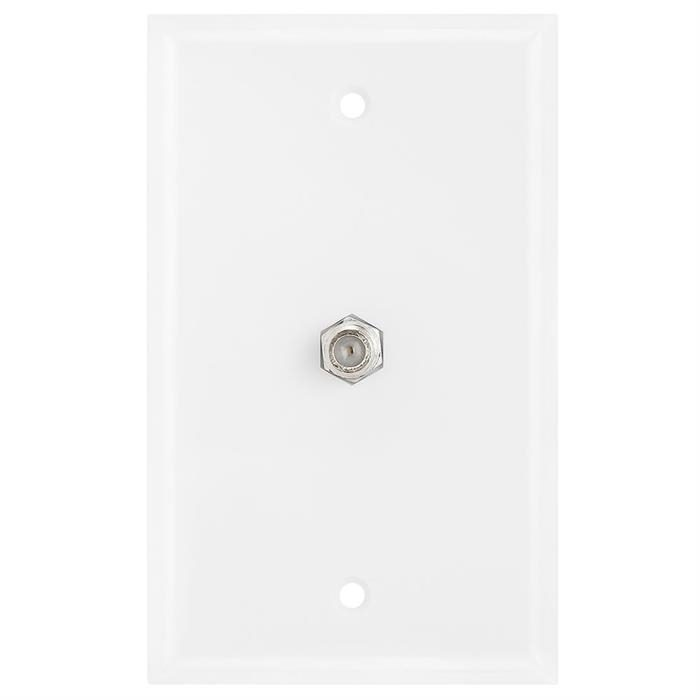 Coaxial F-Connector Wall Plates for Cable TV, Satellite