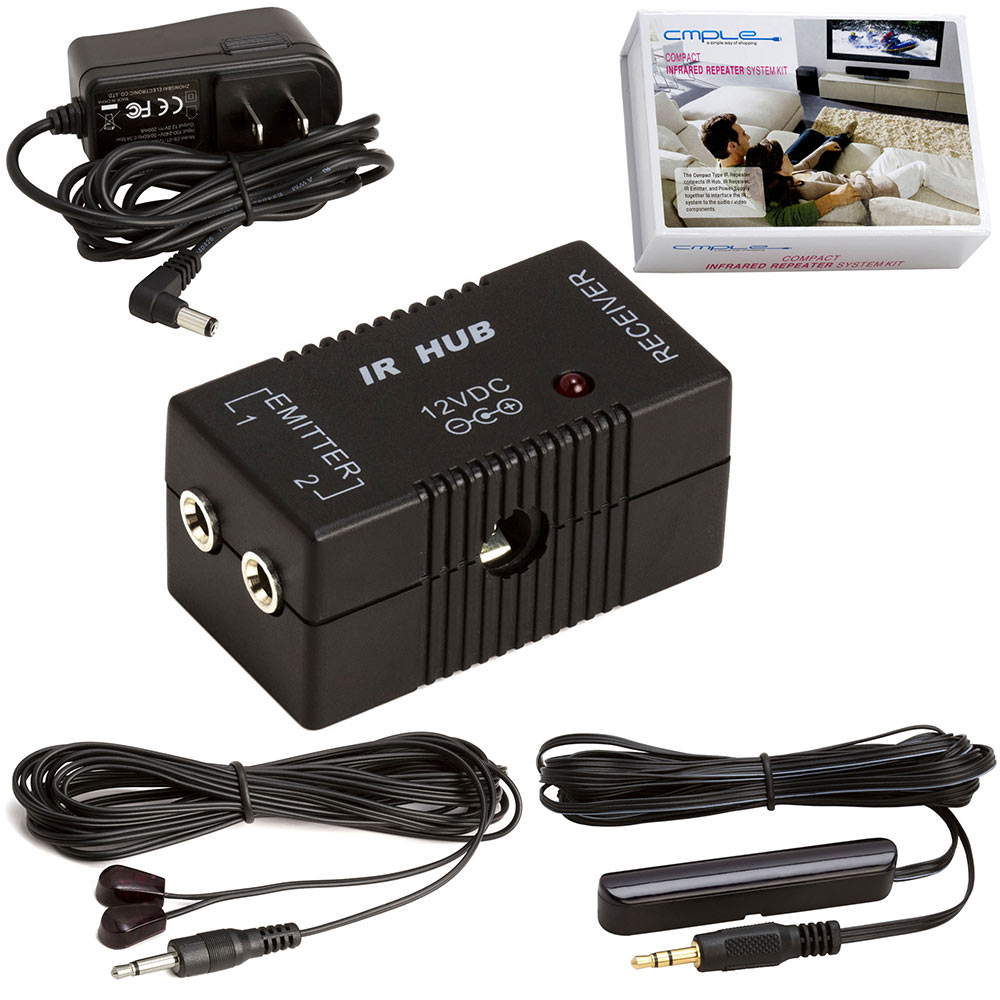 Picture of Compact Premium IR Infrared Repeater Kit System IR Emitters Extender