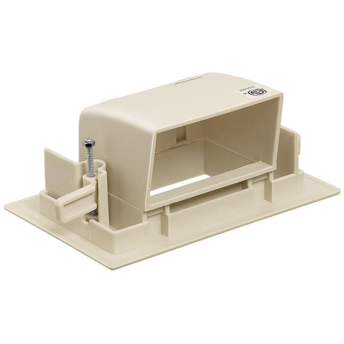 DataComm 45-0008-IV Recessed Easy Mount Low-Voltage Cable Wall Plate - Ivory