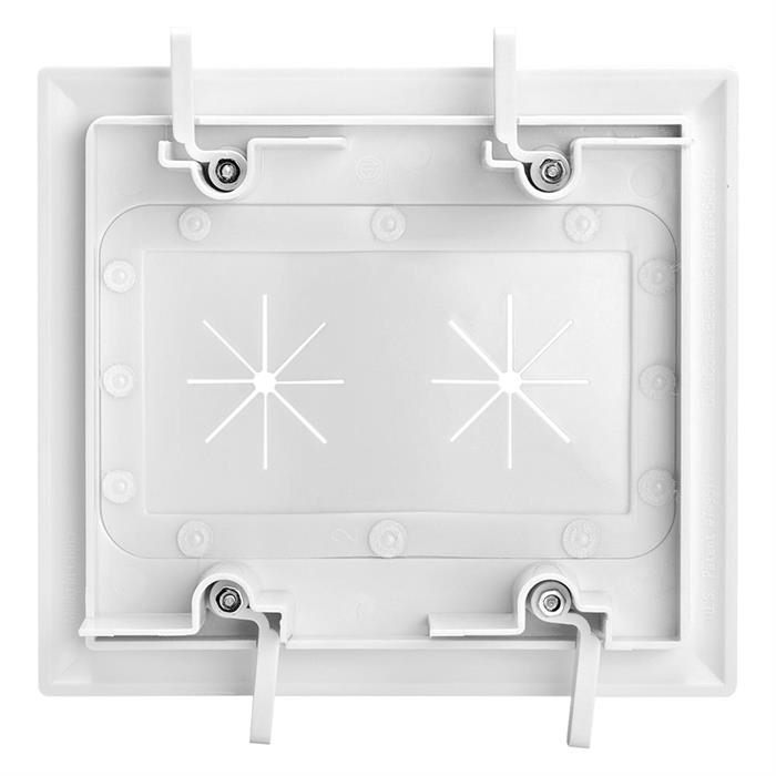 DataComm 45-0015-WH Two-Gang Low-Voltage Cable Plate With Flexible Opening - White