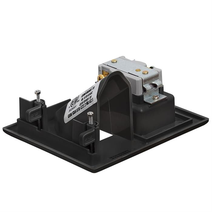 DataComm 45-0021-BK Recessed Low-Voltage Cable Wall Plate With Recessed AC Power - Black