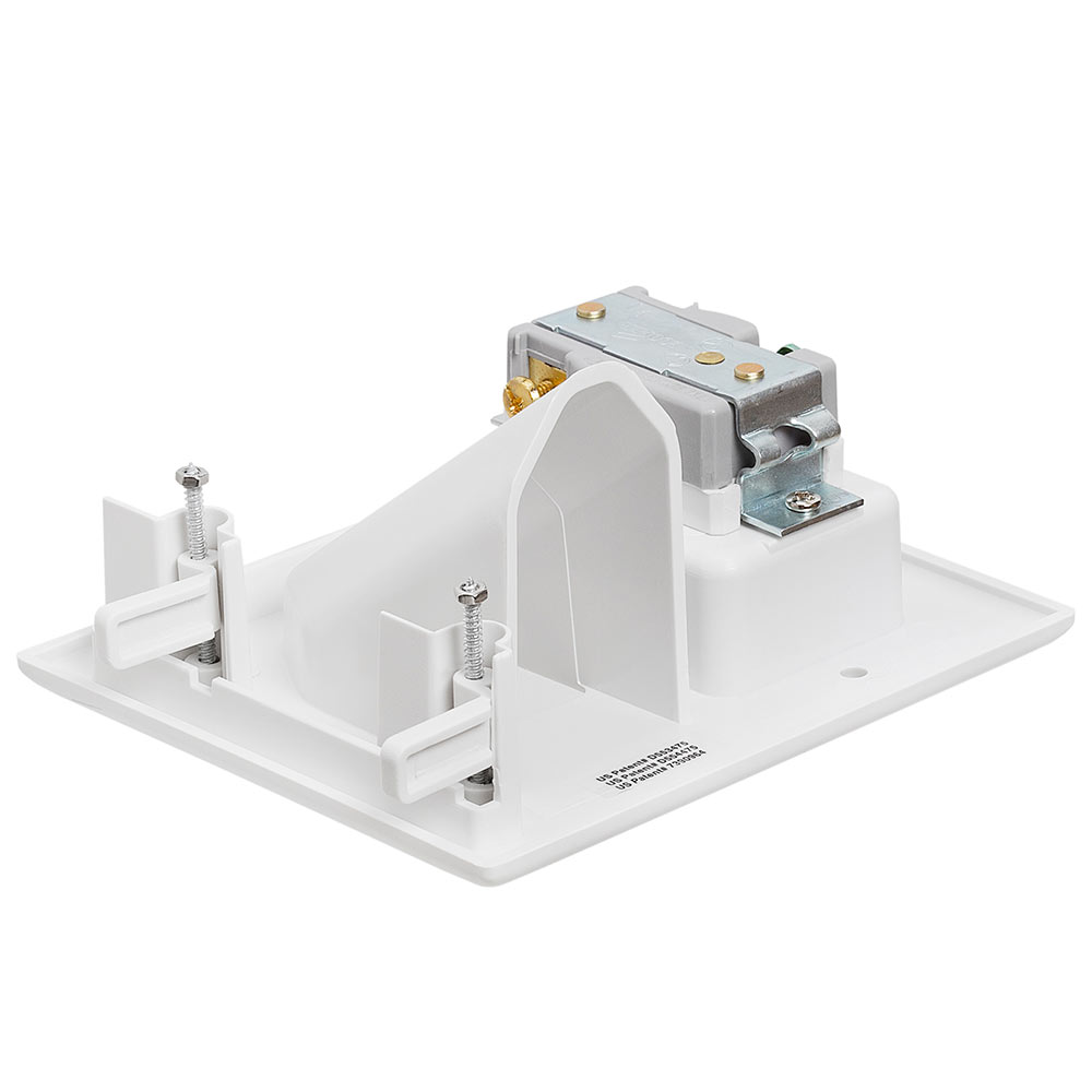 Low Voltage Cabling : Recessed low voltage cable wall plate with ac