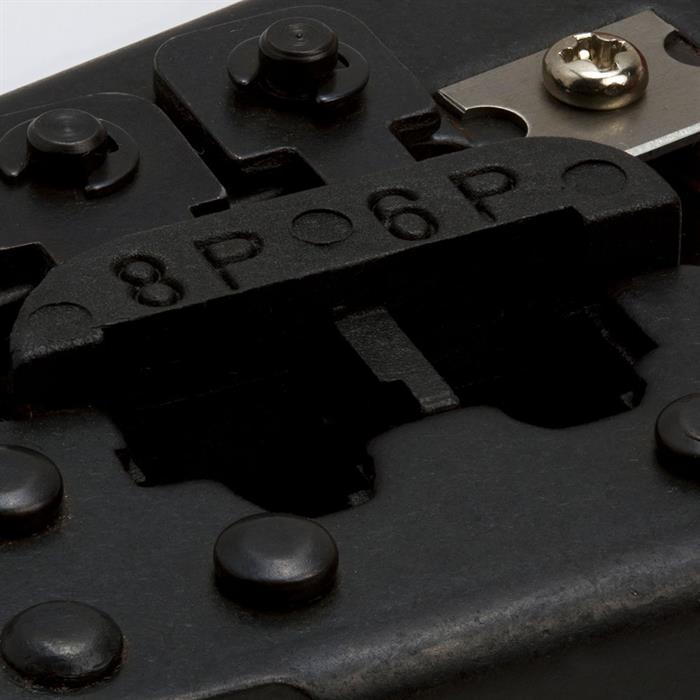 Dual Modular RJ12/RJ11/RJ45 Ratchet Crimping Tool