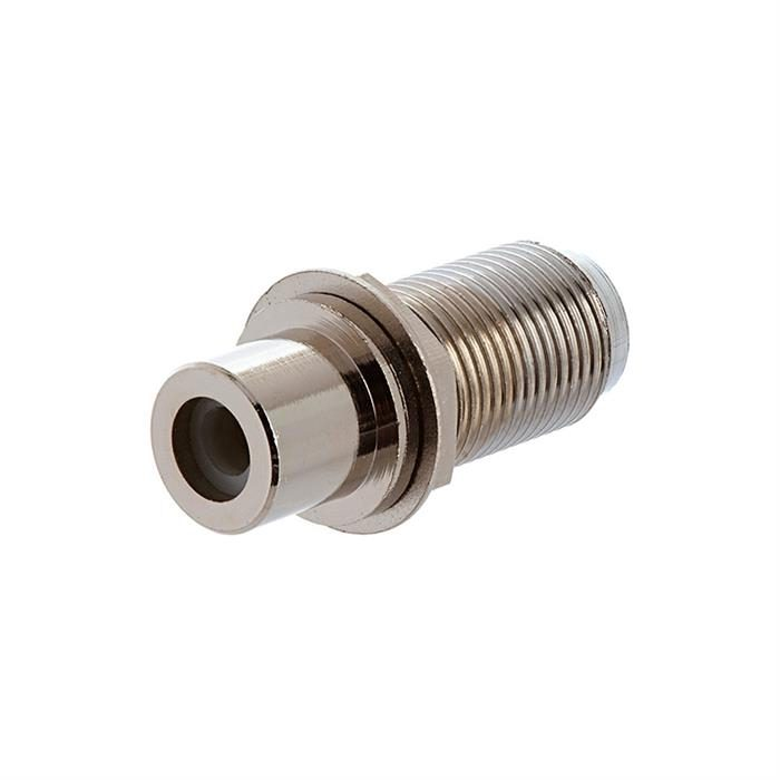 F Female To RCA Female Adapter Nut and Washer Type