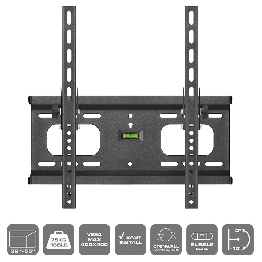 heavy duty tilt wall mount for 32 55 lcd led plasma tv 39 s. Black Bedroom Furniture Sets. Home Design Ideas