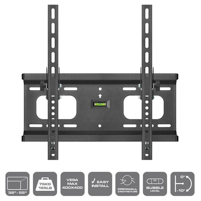 "Features - Built-in bubble level, Easy Lock, TV Wall Mount For 32""-55"" TV's"