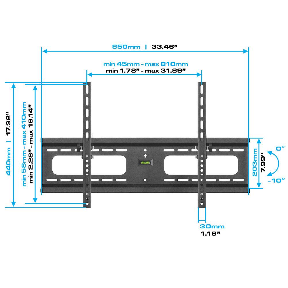 Heavy Duty Tilt Wall Mount For 37 70 Lcdledplasma Tvs