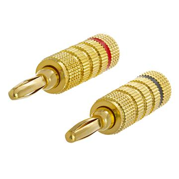 High-Quality Speaker Banana Plugs - Open Screw Type, 1 PAIR