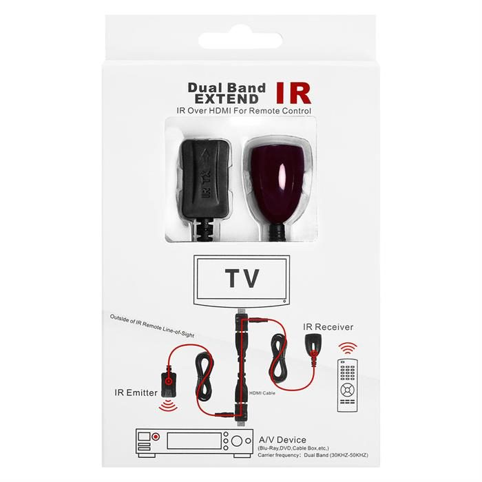 IR Extender Over HDMI - Extender Receiver Transmitter Cable Kit