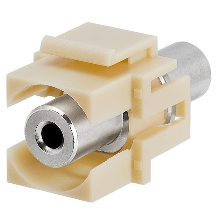 Keystone Jack - 3.5mm Stereo Female to Female Ivory