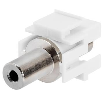 Keystone Jack - 3.5mm Stereo Female to Female White