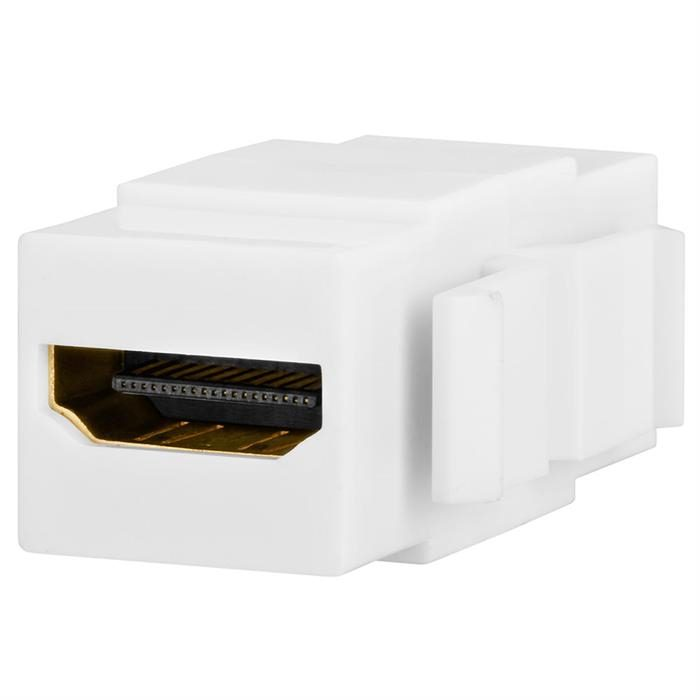 Keystone Jack - HDMI Female to Female Coupler - White